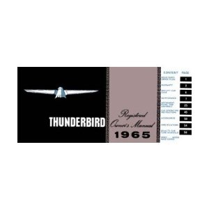 1965 FORD THUNDERBIRD Owners Manual User Guide