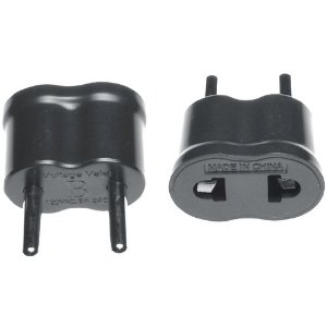 International plug adaptor for use in Continental Europe.