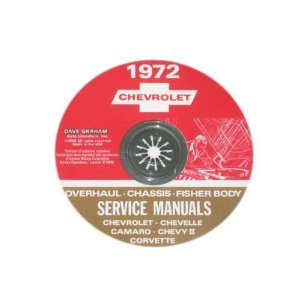 1972 Corvette Shop and Service Manual on CD