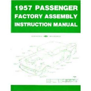1957 CHEVROLET Assembly Manual Book Rebuild