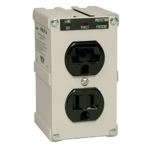 Tripp Lite ISOBLOK2-0 2-Outlet Isobar Premium Surge Protector 600 Joules)