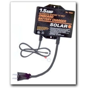 Solar - Onboard Battery Charger/Maintainer with Automatic Shutoff (1002)