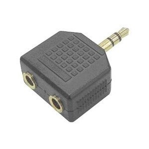 SIIG Stereo Splitter - Audio splitter - mini-phone stereo 3.5 mm (M) - mini-phone stereo 3.5 mm (F)