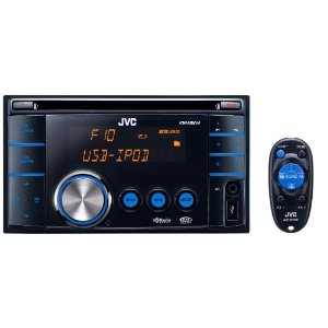 JVC KW-XR610 Double-DIN USB/CD Receiver w/ front AUX Input, USB 2.0 for iPod/iPhone, and Bluetooth/Satellite/HD Radio Add-On Capability