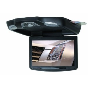 BOSS BV11.2BA 11.2-Inch Widescreen TFT Flip-Down Monitor/DVD Combo/Infrared Transmitter/FM Modu-lator/USB/SD Card (Black)