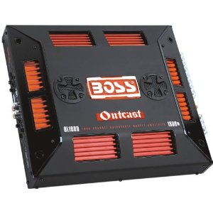 BOSS OUTCAST OL1800 1800 Watts 4-Channel Mosfet Power Amplifier with Remote Subwoofer Level Control