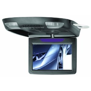 BOSS BV9.2BA 9.2 -Inch Widescreen TFT Flip-Down Monitor/DVD Combo Infrared Transmitter/Dome Lights/Swivel/DVD/DVD-R/MP4/MP3/CD/VCD (Black)