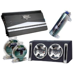 Lanzar Powerful Amplifier/Subwoofer/Capacitor/Installation Package for Car/Truck/SUV