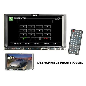 Pyle - PLDN76DB; 7'' Double Din TFT Touch Screen DVD/MPEG4/MP3/DIVX/CD-R/USB/SD/AM/FM/RDS With Bluetooth