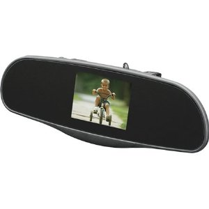 AudioVox RVM35 rear-view mirror with integrated 3.5