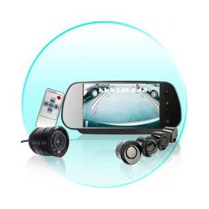 Car Reversing Set - Sensors + Rearview Camera + Rearview Screen