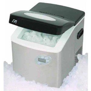 Sunpentown IM-101S Portable Ice Maker with LCD with Stainless Steel Body