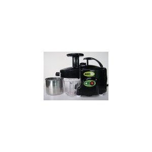 Green Power KPE1304 Twin Gear Juicer Wheatgrass, Vegetable & Fruit Juicer - BLACK