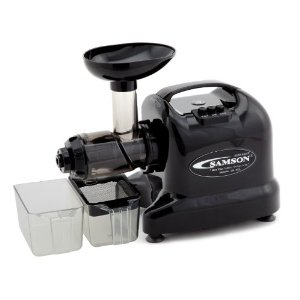 Samson Advanced 6 In 1 Juicer GB9005 - Color: Black + Organic Wheatgrass Kit - Samson GB-9005 Fruit & Vegetable Juice Extractor - Juices Also Juices Wheat Grass