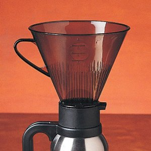 RSVP Maunual Drip Coffee Filter Cone for Carafes or Thermos