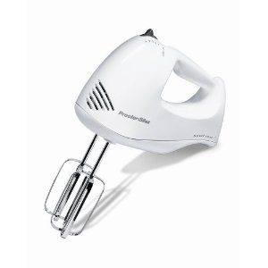 Proctor Silex 62535 Bowl Rest 5-Speed Mixer, White