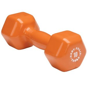 Body Solid Tools BSTVD10 10-Pound Vinyl Dumbbell (Orange)
