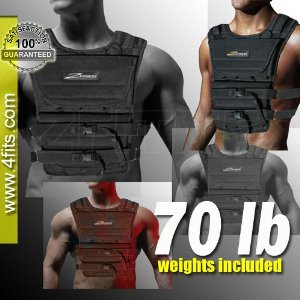 NEW! ZFO-70LBS Adjustable Weighted Vest (WEIGHTS INCLUDED)