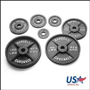 100 Pound Black Olympic Weight Plates - 1 Pair