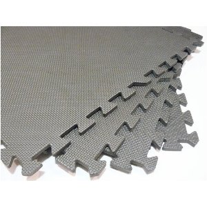 144 Square Feet ( 36 tiles + borders) 'We Sell Mats' Light Gray 2' x 2' x 3/8
