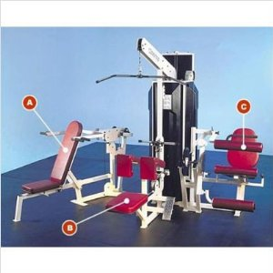 Quantum Fitness Multi-Station Commercial 3 Stack Gym with Optional Weight Stack Shrouds QMS-401