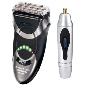 Remington MS-5500 Titanium Microscreen with Bonus Nose and Ear Trimmer