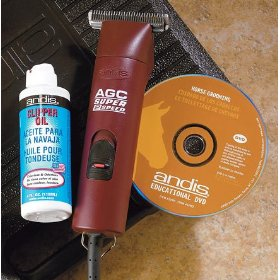 Andis 22330 AGC Super 2-Speed Professional Horse Clipper with Size T-84 Detachable Blade, Horse Grooming DVD, in Storage Case