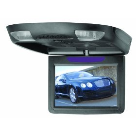 BOSS BV9.2FB 9.2 -Inch Widescreen TFT Flip-Down Monitor with Infrared Transmitter, Swivel, Dome Lights, Black
