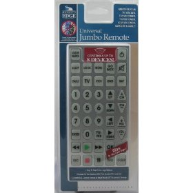 Journe's Edge Universal Jumbo Remote Control + FREE Magnifier