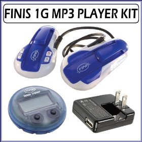 Finis SWIMP3 1G Waterproof 1GB MP3 Player + Accessory Kit