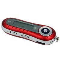 Low Cost MP3 Music Player with 1 GB of memory - Red