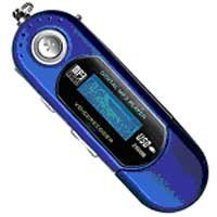 Digital MP3 Player (1 Gb) with USB Plug - BLUE