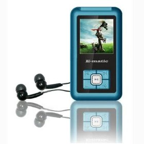 Ematic 2GB Color MP3 Video Player with 1.5-Inch Screen, FM Radio and Voice Recording (Blue)