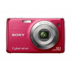 Sony Cyber-shot DSC-W230 12 MP Digital Camera with 4x Optical Zoom and Super Steady Shot Image Stabilization (Dark Red)