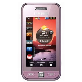 Samsung S5230 Tocco Lite Unlocked Phone with Quad-Band GSM, 3 MP Camera, MP3/Video Player, and MicroSD Slot--International Version with Warranty (Pink)