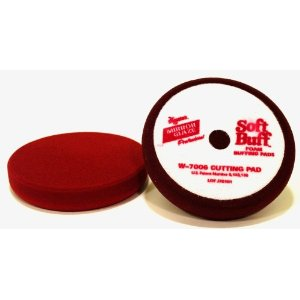 Meguiars Soft Buff Velcro Back Foam Cutting Pad - 6 1/2 Inch Diameter