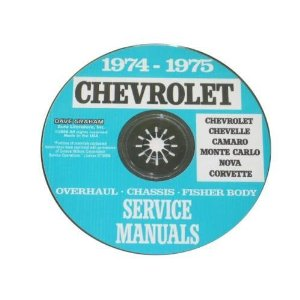 1974-75 Corvette Shop and Service Manual on CD