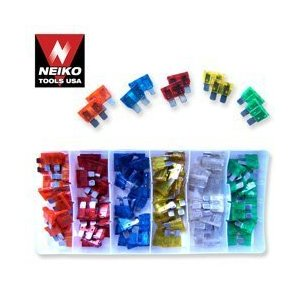 Automotive Fuse Shop Assortment - 120 Pieces