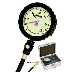Longacre Magnum Gauge Glow in Dark Tire Gauge, 0-60 PSI