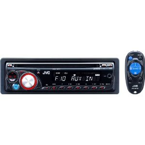JVC KD-R210 CD Receiver With Front Aux Input, Wireless Remote Control, and Detachable Face