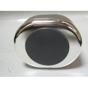 1 extra chrome or black waterproof marine speaker
