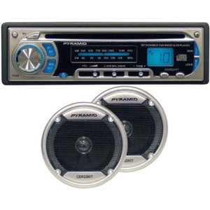 Pyramid CDR22KIT AM/FM Receiver CD Player with 4-Inch Speakers