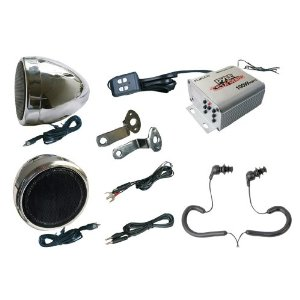 Complete Pyle Weatherproof Mp3/ipod Speaker Kit for Motorcycle, Motorbike, Atv, Scooter, Boat, Snowmobile - 100w Amplifier + 3
