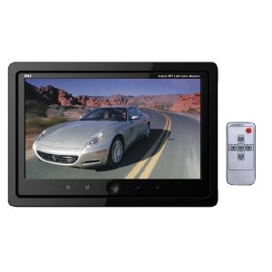 Pyle - PLHR99IW; 9'' Quad TFT/LCD Video Monitor w/Headrest Shroud w/BNC Connectors