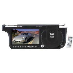 PYLE PLDSV71BK 7-Inch TFT Right Sun visor with Build-in DVD/USB-SD Card Slot (Black)