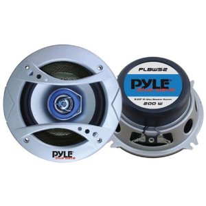 PYLE PLBW52 5.25-Inch 200 Watt Two-Way Speaker with Blue LED Light