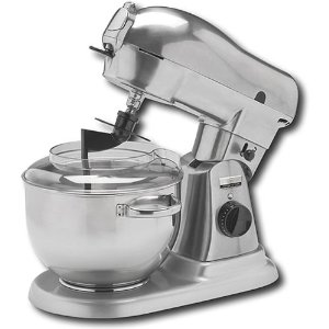 Wolfgang Puck WPPSM050 Direct Drive Stand Mixer with 6-Quart Stainless Steel Mixing Bowl