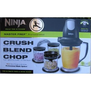 New And Improved Ninja Master Prep Professional Blender / Food Processor, More Powerful & 2X Faster, Recipe Book and 2 Bonus Prep Bowls Included
