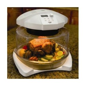 Infrared Halogen Oven Without Extender Ring - by Morningware - HO1200-WOR (White) (11.5