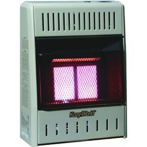 Kozy World KWN121 10,000-BTU Vent-Free Natural-Gas Infrared Wall Heater with Thermostat